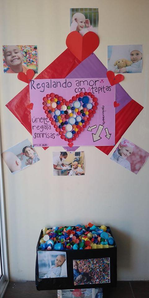 Se invita a juntar tapitas para apoyar en el tratamiento de niños con cáncer